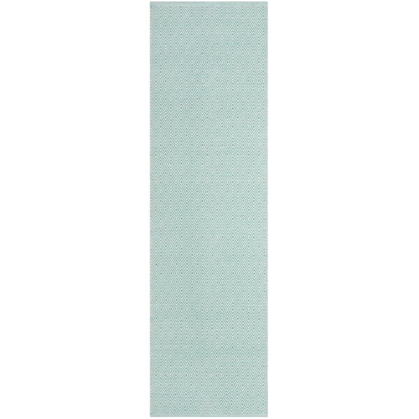 Sessums Hand-Woven Ivory/Aqua Area Rug by Wrought Studio