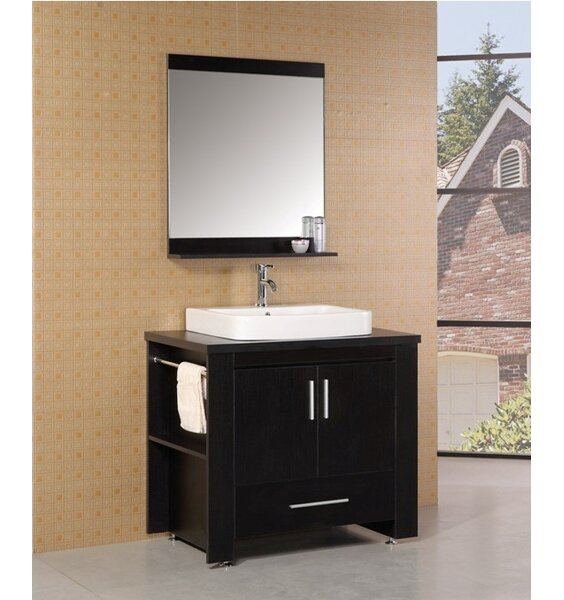 Blaser 36 Single Modern Bathroom Vanity Set with Mirror by Wade Logan