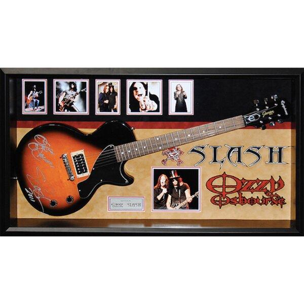 Custom Framed Guitar Autographed by Slash and Ozzy Osbourne by Brayden Studio