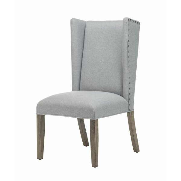 Tugrul Tufted Upholstered Wingback Dining Chair in Gray (Set of 2) by Gracie Oaks Gracie Oaks