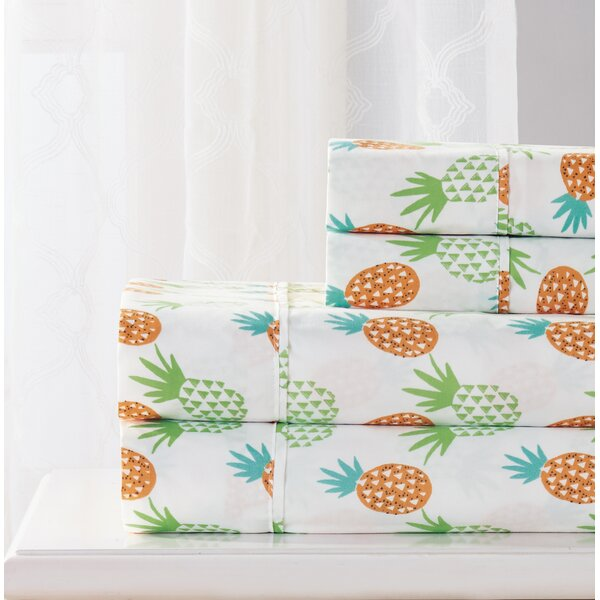Singh 4 Piece Pineapple Sheet Set by Bay Isle Home