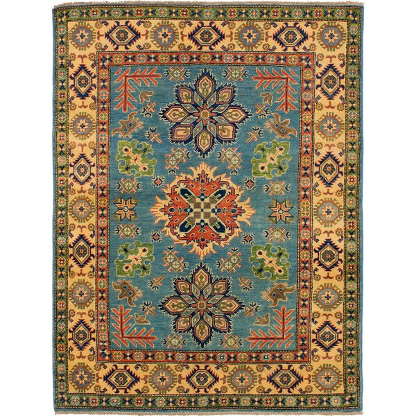 One-of-a-Kind Baretta Hand-Knotted Wool Light Blue/Beige Area Rug by Isabelline