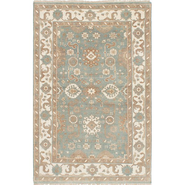 One-of-a-Kind Doggett Hand-Knotted Slate Blue Area Rug by Isabelline