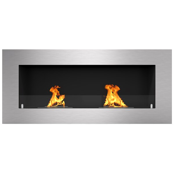 Aron Wall Mounted Bio-Ethanol Fireplace By Orren Ellis