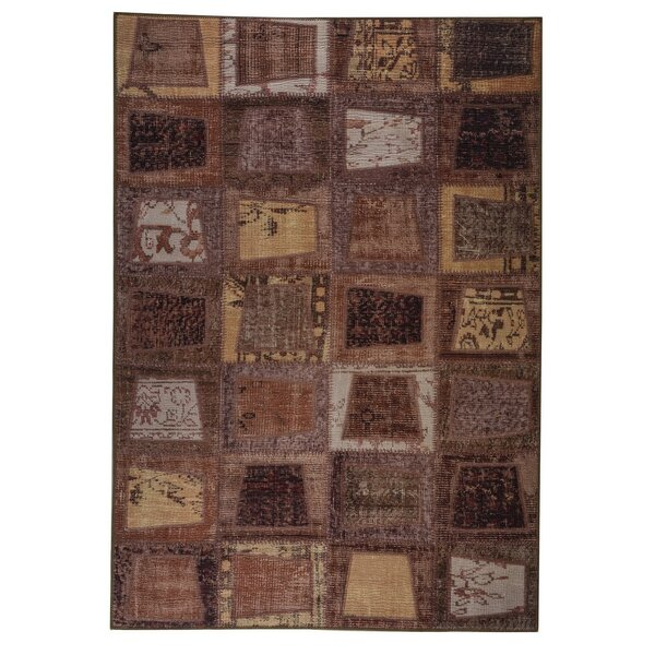 Quintara Hand woven Brown Area Rug by World Menagerie