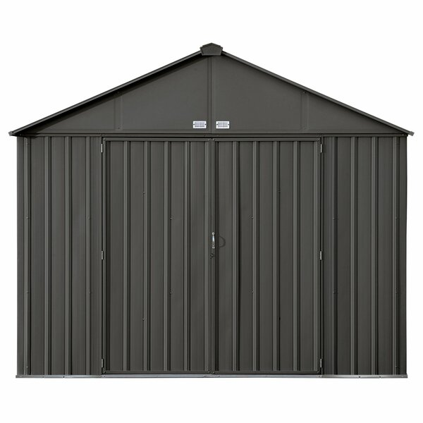 EZEE 9 ft. 10 in. W x 8 ft. 2 in. D Metal Storage Shed by Arrow