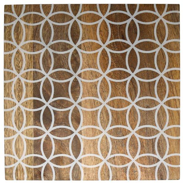 Circle Pattern Mango Wood Square Trivet by Wrought Studio