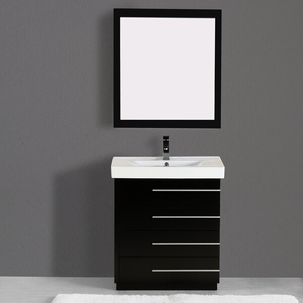 Carlo 36 Single Vanity Set with Mirror by Adornus