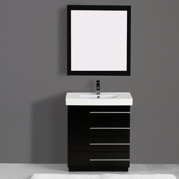 Carlo 36 Single Vanity Set with Mirror by Adornus