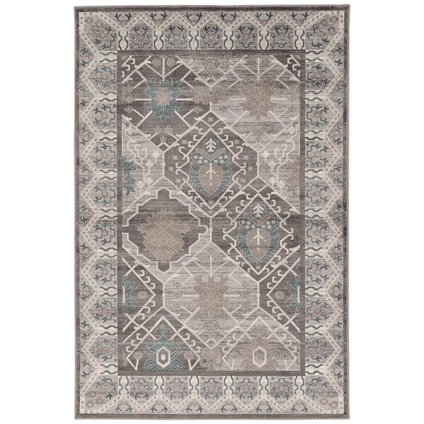 Awrad Beige/Gray Area Rug by World Menagerie