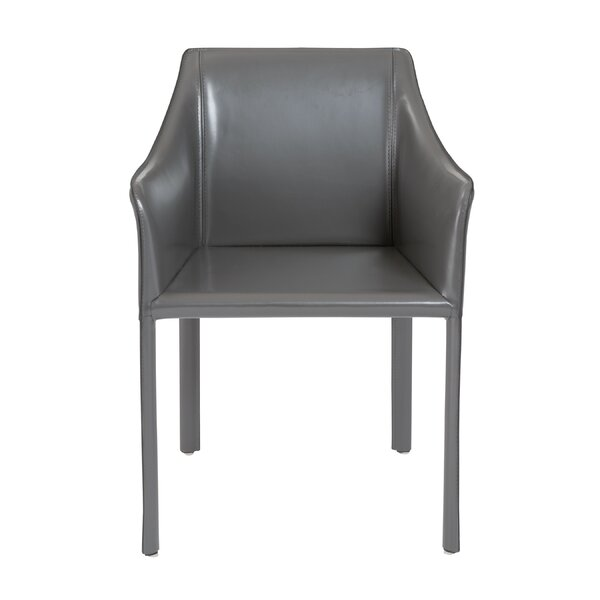 Colten Genuine Leather Upholstered Dining Chair by Wade Logan
