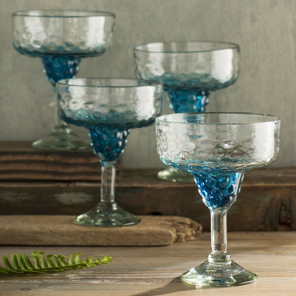 Dawley Hobnail Margarita Glass (Set of 4) by Highland Dunes