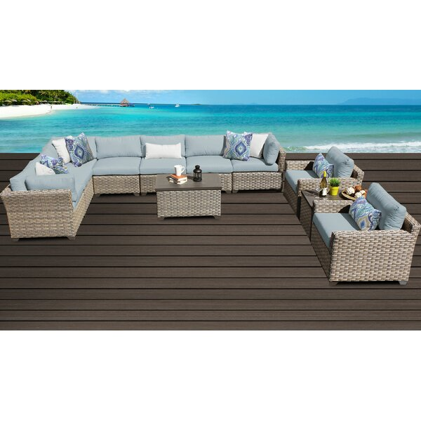 Rochford 11 Piece Sectional Seating Group with Cushions by Sol 72 Outdoor