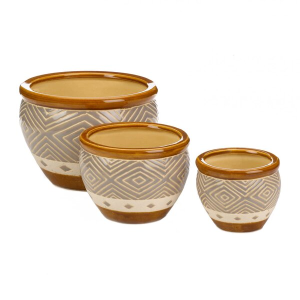 Erkson Trio 3-Piece Pot Planter Set by World Menagerie