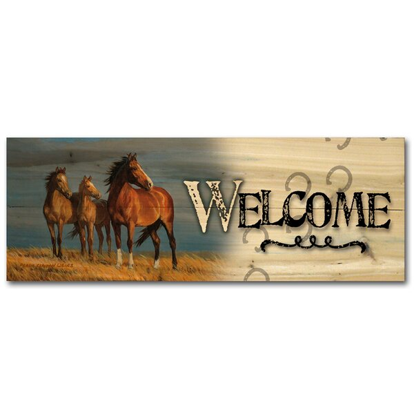 Welcome on Alert by Persis Clayton Weirs Graphic Plaque by WGI-GALLERY
