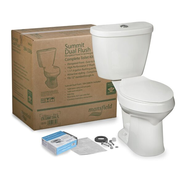 Summit CTK SmartHeight™ Dual Flush Elongated Two-Piece Toilet by Mansfield Plumbing Products