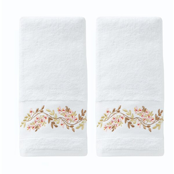 Sulema Floral Cotton Hand Towel (Set of 2) by House of Hampton