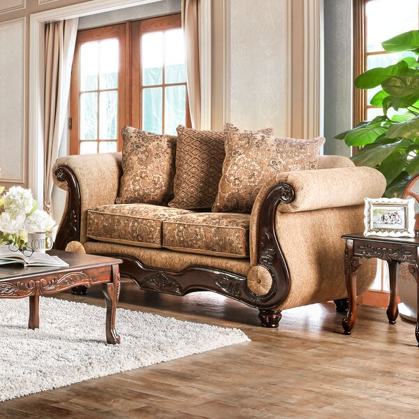 Chic Style Destanee Traditional Loveseat by World Menagerie by World Menagerie