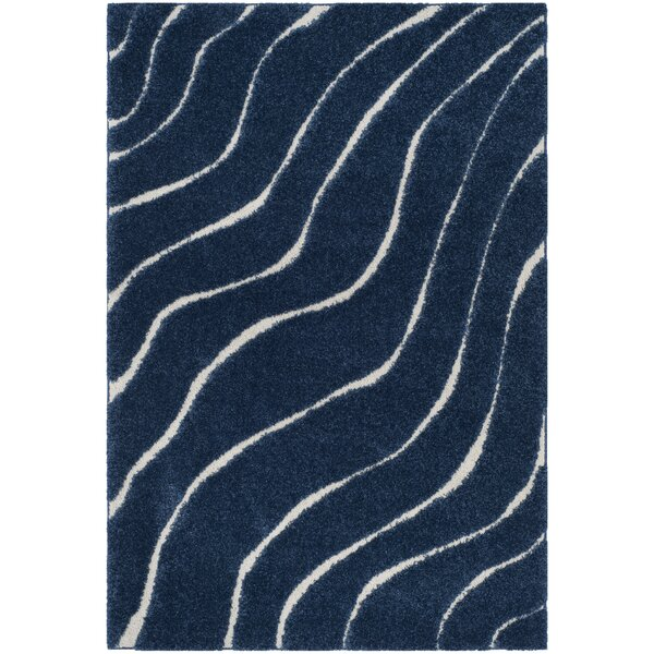 Enrique Blue/Cream Area Rug by Zipcode Design