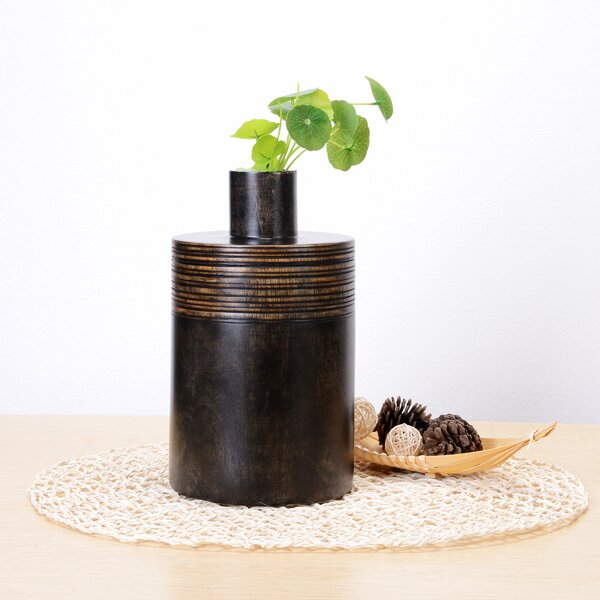 Daphine Decorative Mango Wood Jar by World Menagerie