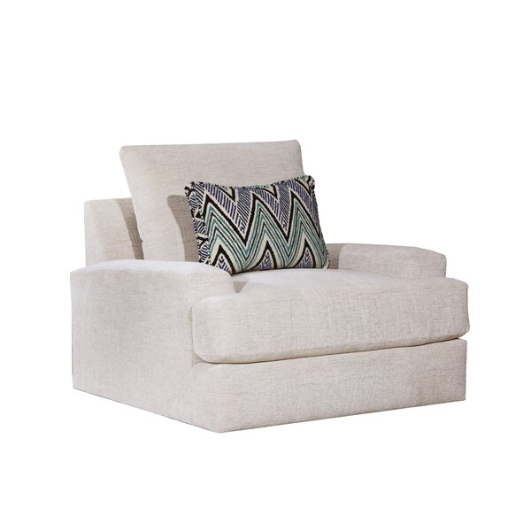 Aidan Swivel Armchair by Highland Dunes
