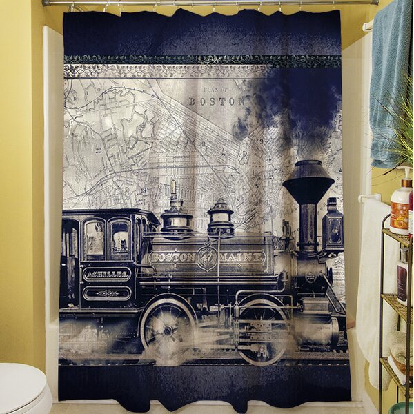 Railway Beantown Shower Curtain by Manual Woodworkers & Weavers