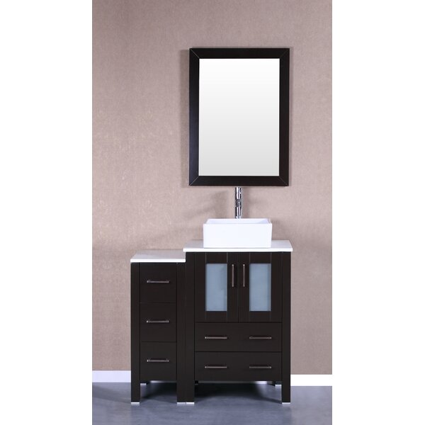 Cambria Greenwich 36 Single Bathroom Vanity Set with Mirror by Bosconi