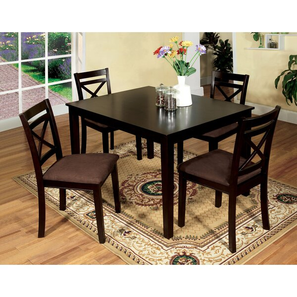 Thor 5 Piece Solid Wood Dining Set by Red Barrel Studio Red Barrel Studio