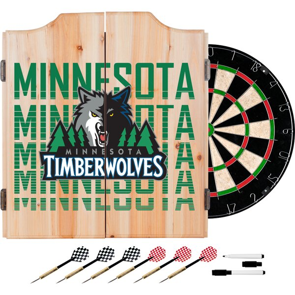 NBA City Dartboard and Cabinet Set by Trademark Global