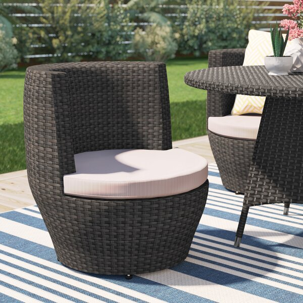 Landers Patio Dining Chair with Cushion by Brayden Studio