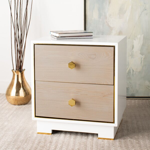 Dustin End Table With Storage By Everly Quinn