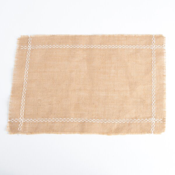 Chaliah Design Jute Placemat (Set of 4) by Beachcrest Home