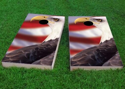 Patriotic Bald Eagle Cornhole Game (Set of 2) by Custom Cornhole Boards