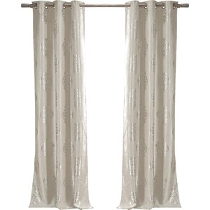 Hastings Damask Blackout Thermal Grommet Curtain Panels (Set of 2)