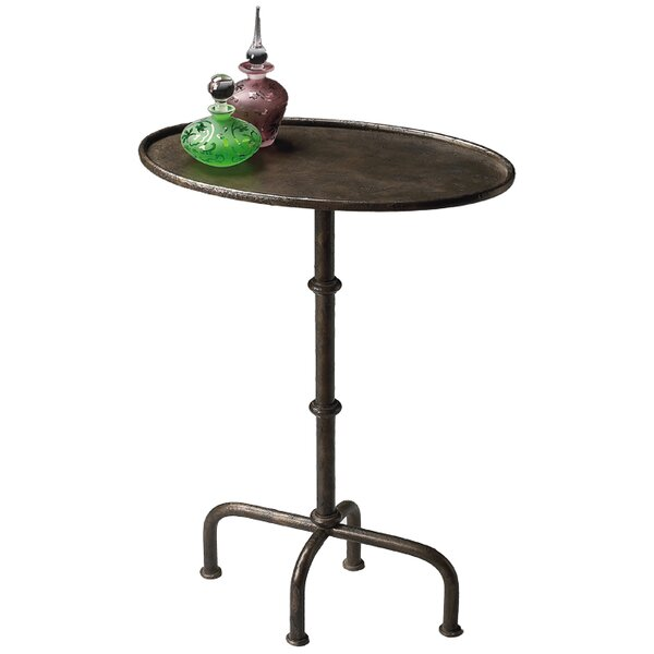 Clamp Pedestal End Table by Darby Home Co