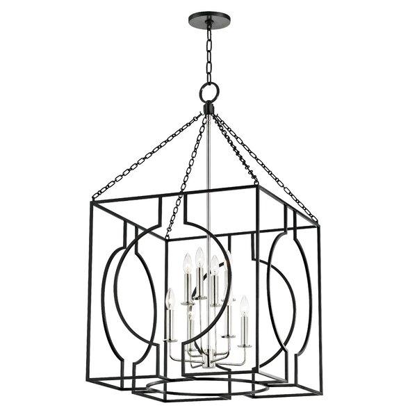 Lehner 8 - Light Lantern Square Chandelier By Everly Quinn