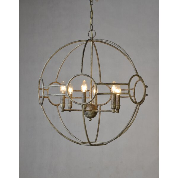 Simo 6 - Light Unique / Statement Globe Chandelier by 17 Stories 17 Stories