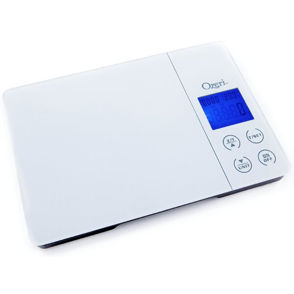 Gourmet Digital Kitchen Scale with Timer, Alarm and Temperature Display by Ozeri