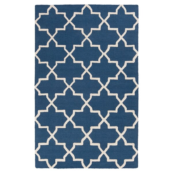 Blaisdell Navy Geometric Keely Area Rug by Charlton Home