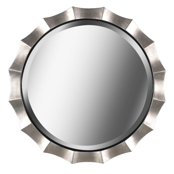 Round Silver Wall Mirror by Bay Isle Home