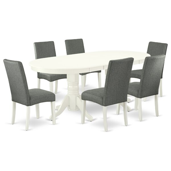 Wodonga 7 Piece Extendable Solid Wood Dining Set by Winston Porter Winston Porter