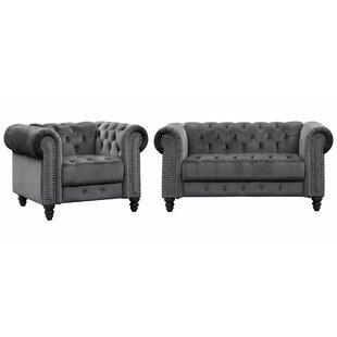 Yolanda 2 Piece Living Room Set by House of Hampton®
