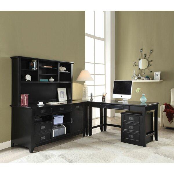 Sebastiao Office Credenza Desk with Hutch