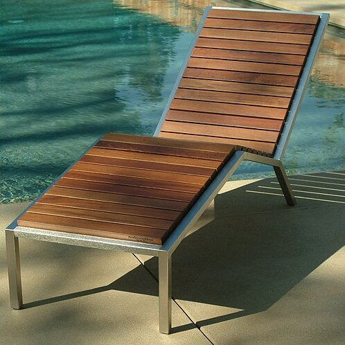 Talt Fixed Chaise Lounge by Modern Outdoor