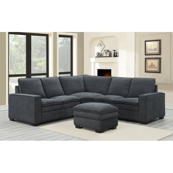 Demmer Symmetrical Sectional with Ottoman by Darby Home Co