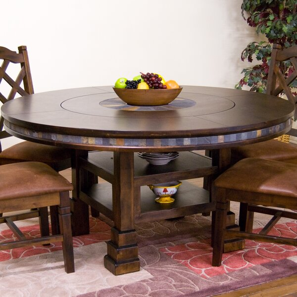 Fresno Solid Wood Dining Table by Loon Peak