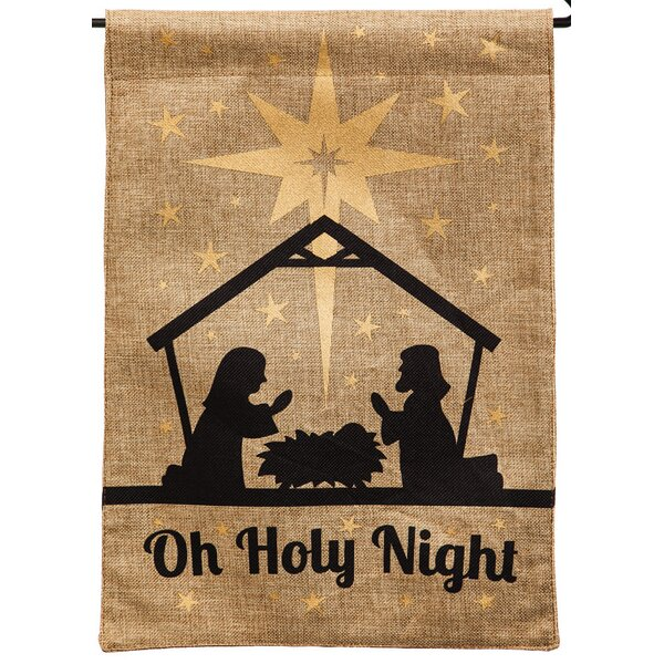Oh Holy Night Garden Flag by Evergreen Enterprises, Inc