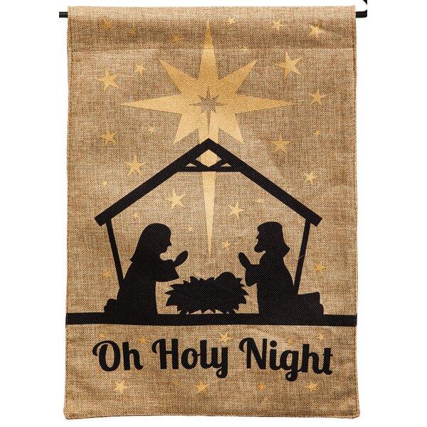 Oh Holy Night Garden Flag by Evergreen Enterprises