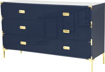 Jet Setter 6 Drawer Double Dresser by ModShop