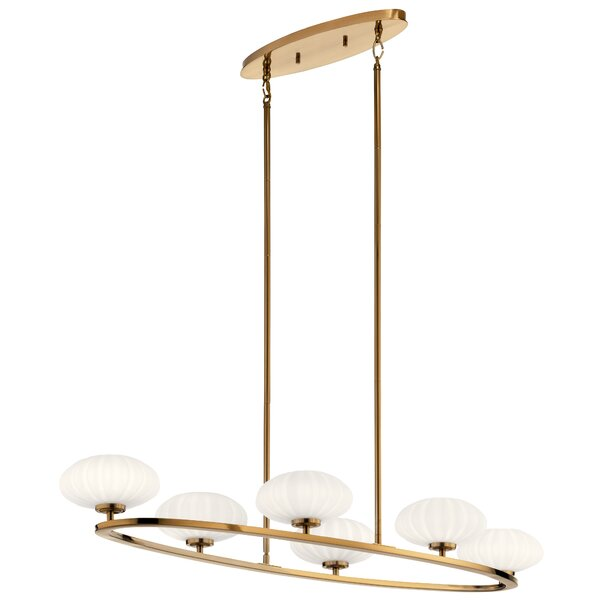 Marjorie 6 - Light Shaded Wagon Wheel LED Chandelier by Everly Quinn Everly Quinn